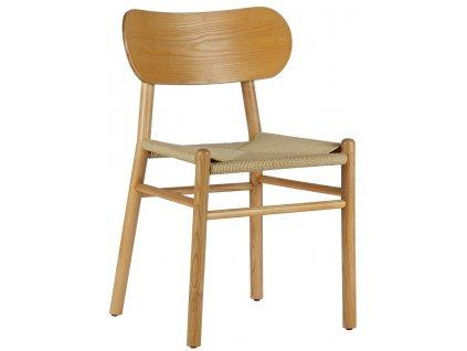 Přírodní dřevěná jídelní židle Rodin