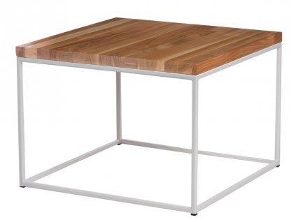 Konferenční stolek Crate 45x45, 15 mm, bílý kov/třešeň