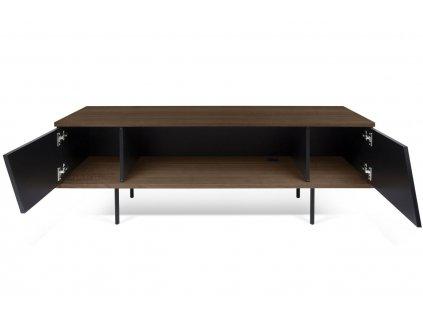 Ořechový TV stolek Dexi 140 x 40 cm