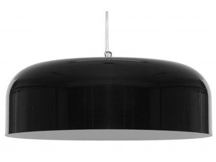 Černé kovové závěsné světlo Orwell L Ø 50 cm