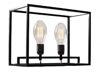 Černá kovová stolní lampa Weric
