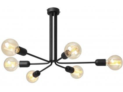 Černé kovové závěsné světlo Trimo 41 cm