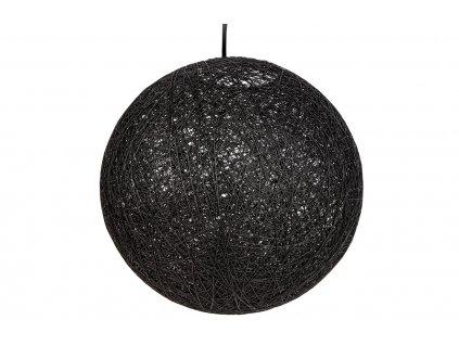 Černé závěsné kulaté světlo Moon 45 cm