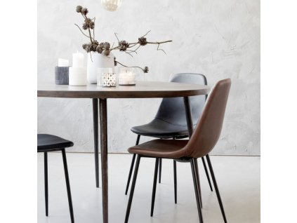 Designová jídelní židle Forms, černá