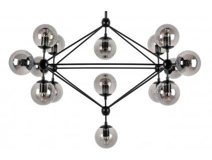Transparentní kouřové závěsné světlo Ball 15
