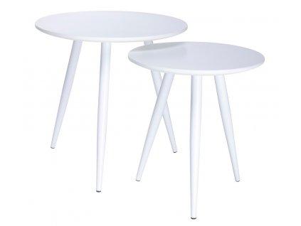 Designový set dvou odkládacích stolků Remi, bílý
