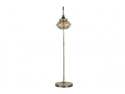 Kouřová mosazná stojací lampa Brend