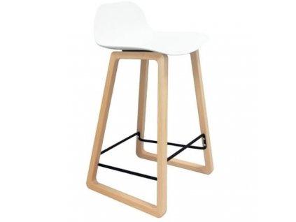 Barová židle Kavala, buk/bílá