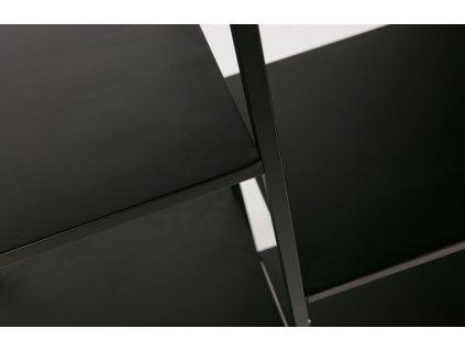 Černý kovový regál Forton M