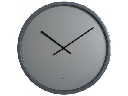 Nástěnné hodiny ZUIVER BANDIT minimalistické šedé