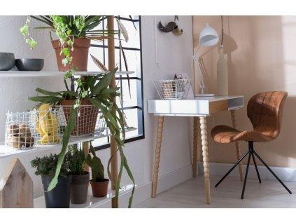 Jídelní židle Zuiver OMG LL černá barva ekokůže černá ocelová podnož