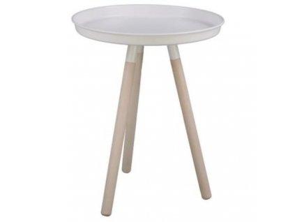 Bílý kovový konferenční stolek Dolby 42,5 cm