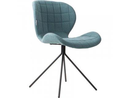 Modrá látková jídelní židle ZUIVER OMG848x848 (2)