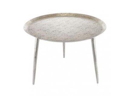 Zlatý kovový konferenční stolek Gido Aluro