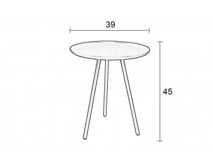 Šedý odkládací stolek WLL Frost