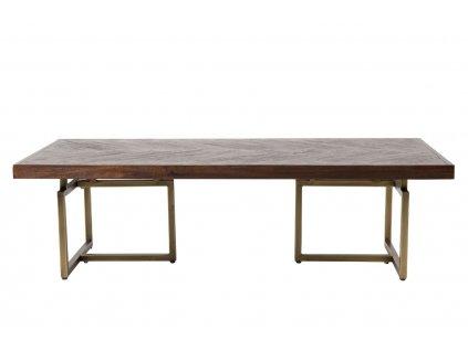 Hnědý konferenční stolek DUTCHBONE CLASS ořech dýha