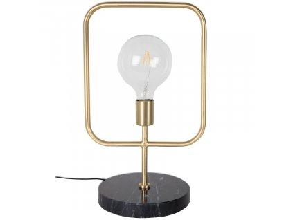 Zlatá stolní lampa DUTCHBONE Cubo