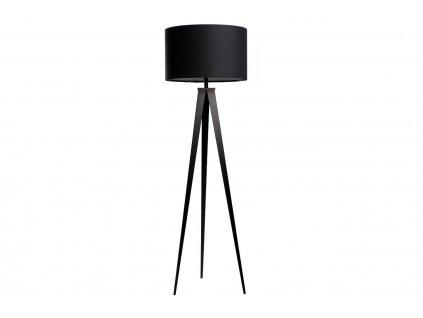 Černá stojací lampa ZUIVER TRIPOD Ø 50 cm
