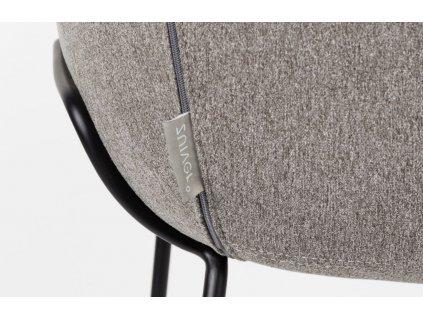 Šedá látková barová židle ZUIVER FESTON 76 cm