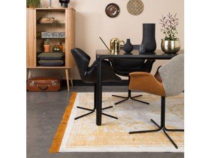 Jídelní židle ZUIVER NIKKI šedá látka černá ekokůže