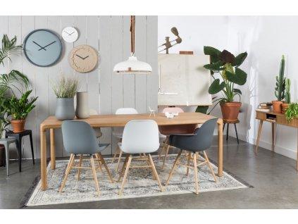 Bílá jídelní židle ZUIVER ALBERT KUIP, polypropylen, jasanové podnože