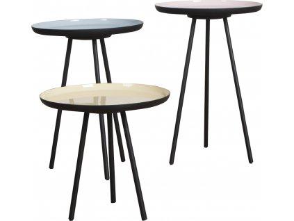 Set tří odkládacích stolků ZUIVER ENAMEL Ø 31 cm