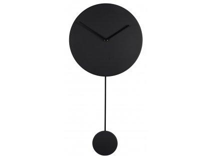 Minimalistické designové nástěnné hodiny ZUIVER MINIMALØ 30 cm v černé barvě