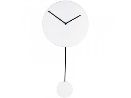 Bílé nástěnné hodiny ZUIVER MINIMAL s kyvadlem848x848