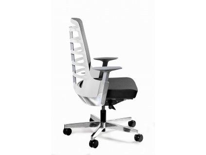 Kancelářská židle Spin S, látka, bílá