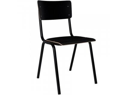Černá dřevěná židle ZUIVER BACK TO SCHOOL848x848 (3)