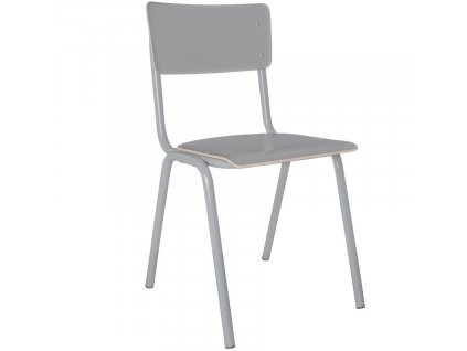 Šedá dřevěná židle ZUIVER BACK TO SCHOOL