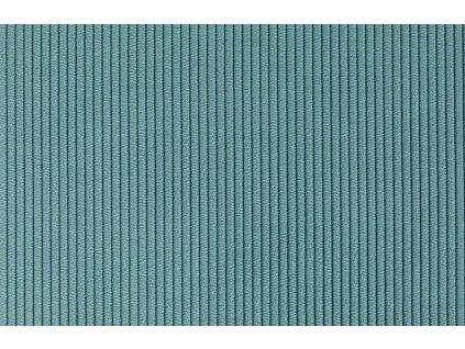 Modrá látková židle ZUIVER RIDGE RIB s lesklým rámem