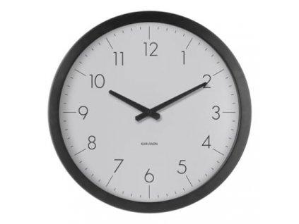 Světle šedé nástěnné hodiny Marien