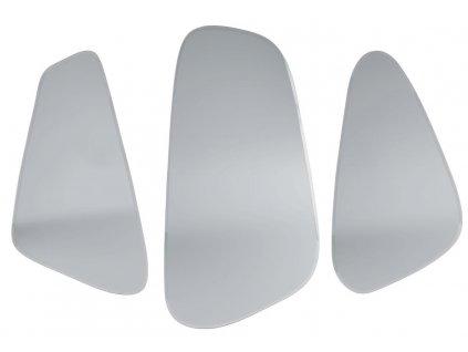 Stříbrný set závěsných zrcadel Oranto