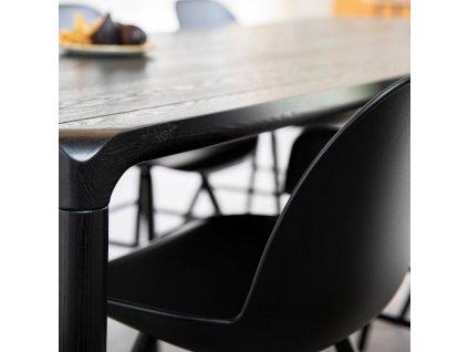 Černý stůl ZUIVER STORM 180x90 cm