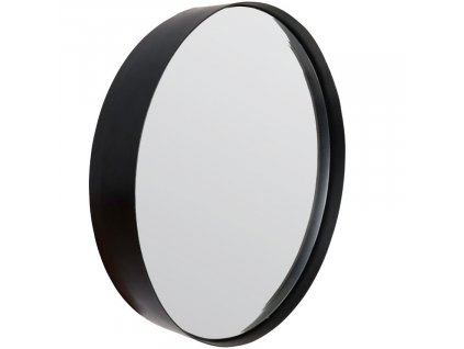 Černé závěsné zrcadlo WLL Raj Large O 75 cm