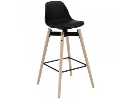 Černá plastová barová židle Nostra 75 cm