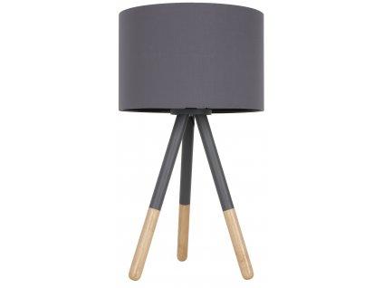 Tmavě šedá stolní lampa ZUIVER HIGHLAND textilní stínidlo kov kaučuk základna