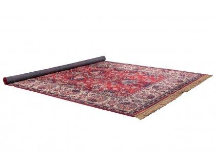 Červený koberec DUTCHBONE BID 200x300 cm, elegantní a starožitný vzhled, protiskluzová podložka