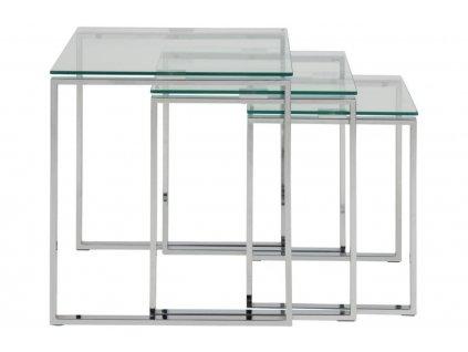 Set tří skleněných konferenčních stolků Divo