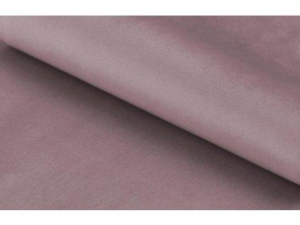 Růžové sametové křeslo Rika s černou podnoží, lakovaná kovová podnož