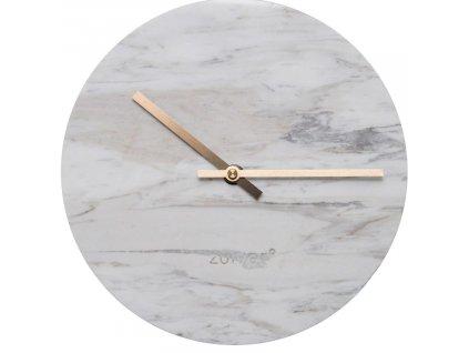 Bílé nástěnné mramorové hodiny ZUIVER MARBLE TIME848x848