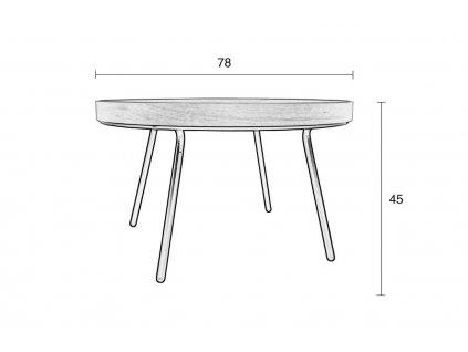 konferenční stolek Oak Tray s odnímatelnou deskou z dubové dýhy