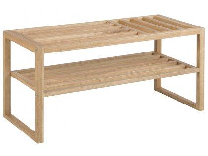Dubová lavice Menera 90x43 cm, lakované, masivní dubové dřevo
