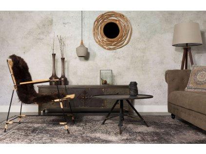 Tmavě šedý koberec DUTCHBONE RUGGED 170x240 cm, starožitný vzhled