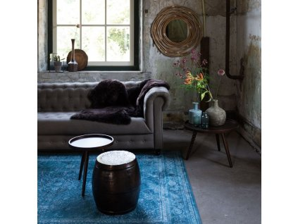 Modrý koberec DUTCHBONE RUGGED 200x300 cm, starožitný a unikátní vzhled
