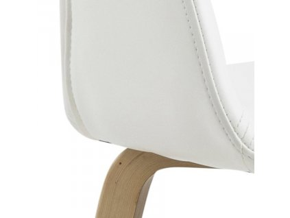 Bílá čalouněná židle Damaro s topolovou podnoží