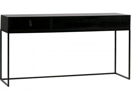 Černý toaletní stolek Frax 140 cm