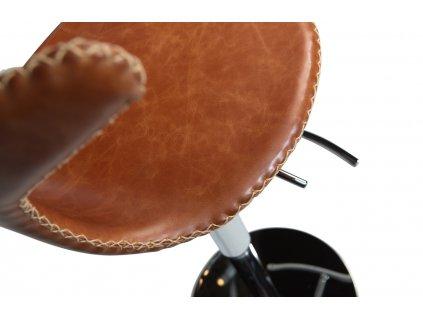 Kožená nastavitelná barová židle DanForm Dolphin, hnědá barva
