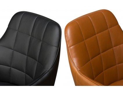 Černá koženková židle DanForm Embrace